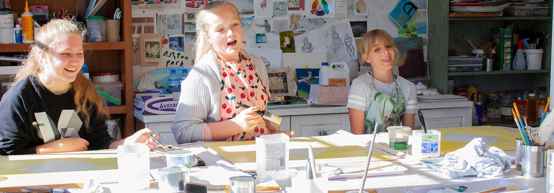 Kids enjoying art workshop at Ashton Park
