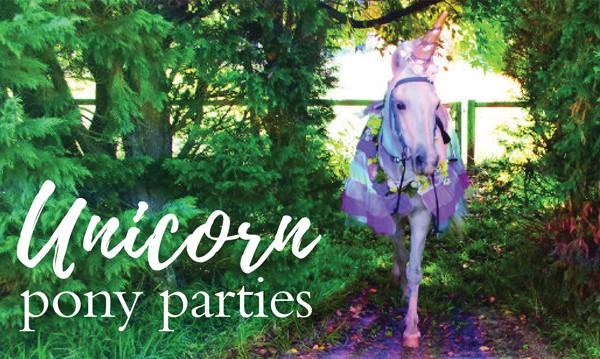 Unicorn pony parties at Ashton Park