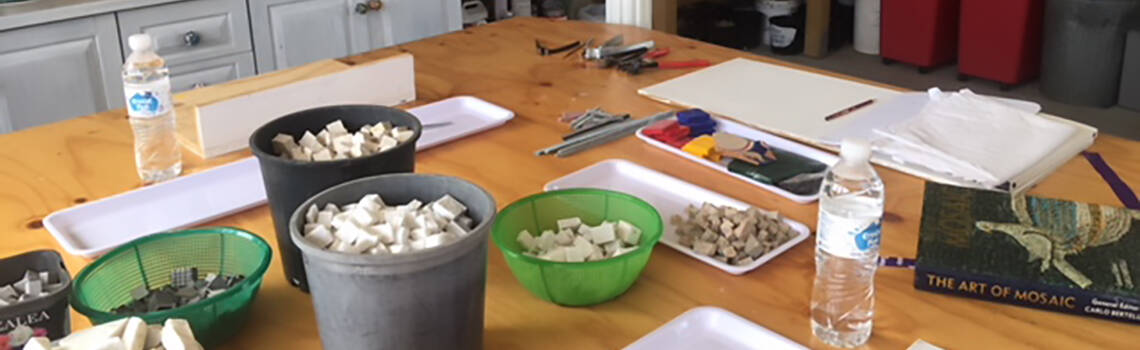 Workshop materials at Ashton Park
