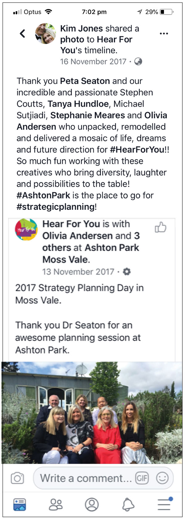 Peta Seaton Strategic Consulting with Hear For You
